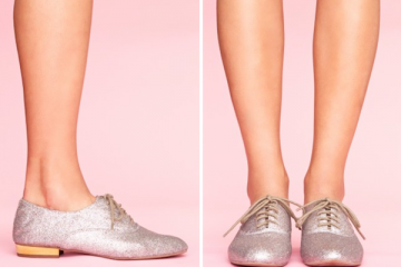 2-Jeffrey Campbell Uniform Glitter Oxfords