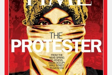TIME Magazine Person of the Year Cover 2011 The Protester Shepard Fairey
