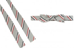 Classic Triple Stripe Bow Tie