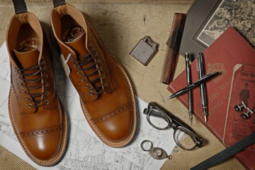 Trickers End Hunting Co Burnished Toe Cap Brogue Boot
