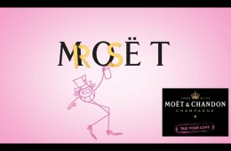 Andre Moet Chandon Rose Tag Your Love Campaign