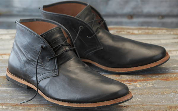 Black Leather Chukka Boots Men - Yu Boots