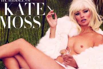 Kate Moss covers Vanity Fair December 2012 NSFW