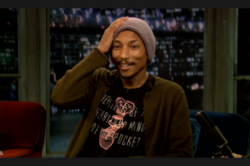 Pharrell on Late Night with Jimmy Fallon