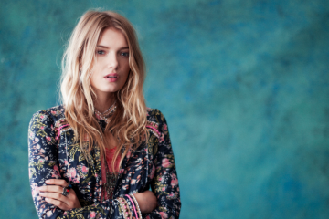 Lily Donaldson for Free People December 2012 Lookbook
