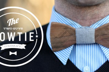 Two Guys Wooden Bow Ties