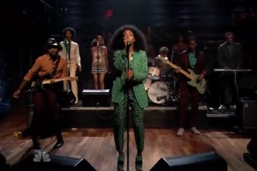 Solange on Late Night With Jimmy Fallon with Dev Hynes