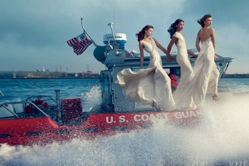 Karlie Kloss, Kasia Struss, Arizona Muse, Liu Wen & Joan Smalls by Annie Leibovitz for Vogue February 2013