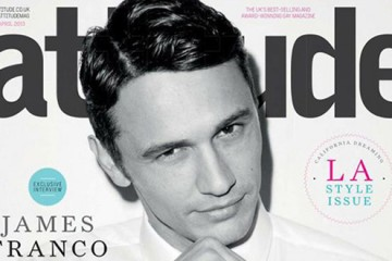 James Franco covers Attitude Magazine April 2013