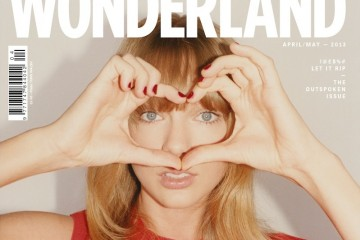 Taylor Swift heart cover [Wonderland Magazine - April/May 2013]