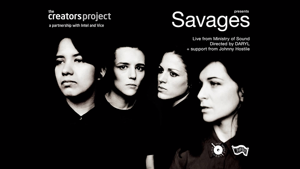 Savages Live presented by The Creators Project