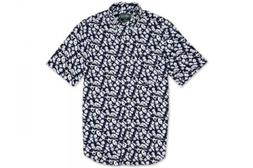 Gitman Vintage Panda Print Button Down Shirt thumbnail