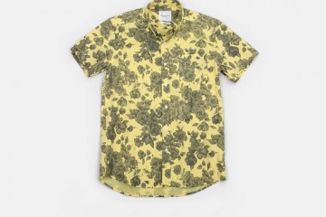 Saturdays Surf NYC Esquina Floral Print Button Down Shirt Yellow