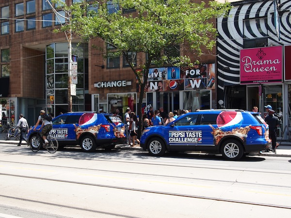 Pepsi Pop Up Toronto Street View