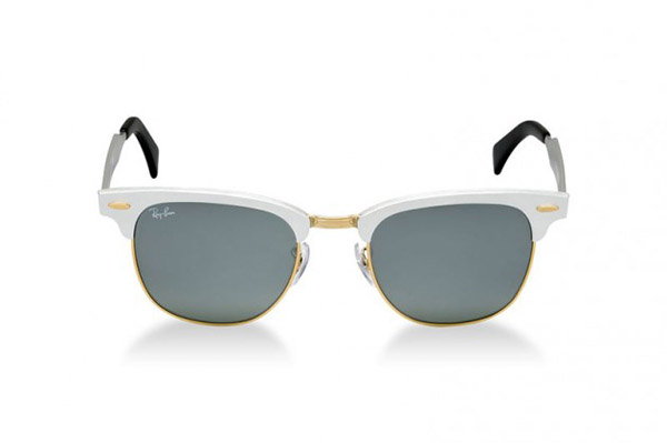 ray bans sunglasses white  ray ban clubmaster aluminium collection white