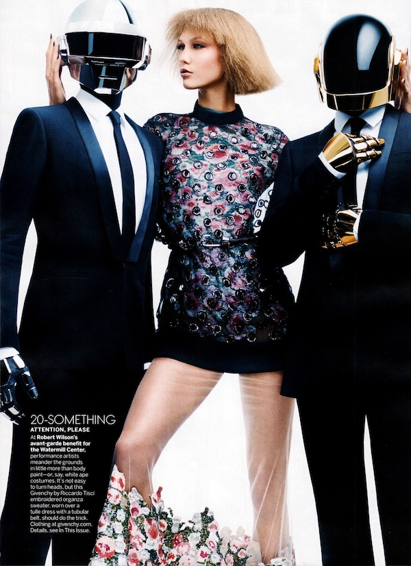Karlie Kloss & Daft Punk for Vogue US-3