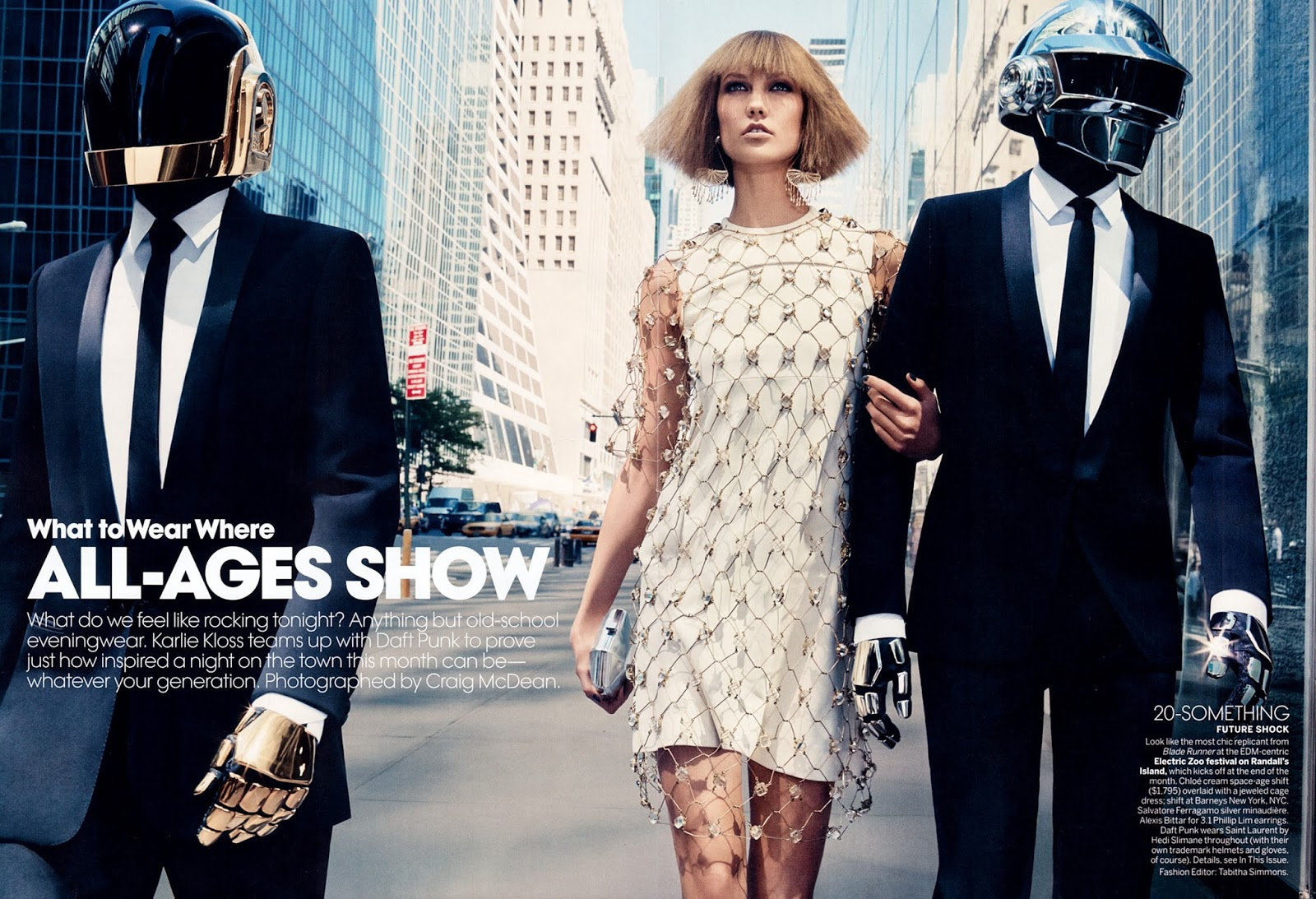 Karlie Kloss & Daft Punk for Vogue US
