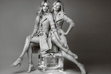 Kate Moss Cara Delevingne My Burberry Fragrance Campaign