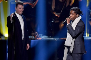 Sam Smith ASAP Rocky perform Im Not The Only One on American Music Awards