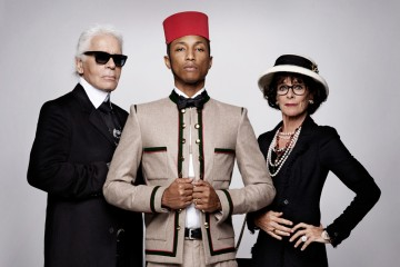 Pharrell Williams Cara Delevingne  Reincarnation Karl Lagerfeld