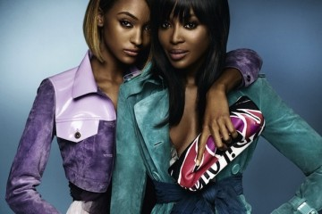 Naomi Campbell & Jourdan Dunn for Burberry Spring Summer 2015-2
