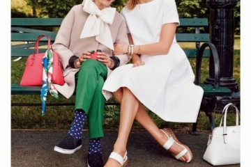 Karlie Kloss & Iris Apfel for Kate Spade Spring 2015