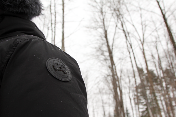 What I Wore In the Great White North-Canada Goose Logo