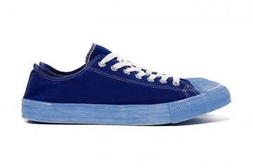 COMME des GARCONS HOMME SS15 Dyed Cotton Canvas Sneakers Blue