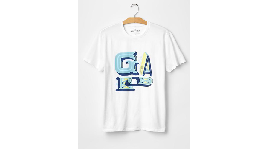 Gap remix project 11 artists 11 t shirts 1 logo for Gap usa t shirt