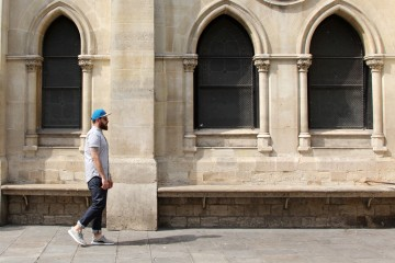 What I Wore Parisian Heatwave-Walking Church