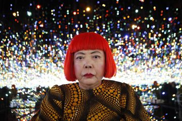 Yayoi Kusama inside her Infinity Mirrored Room installation.