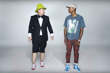 James Corden and Pharrell for Apple Music