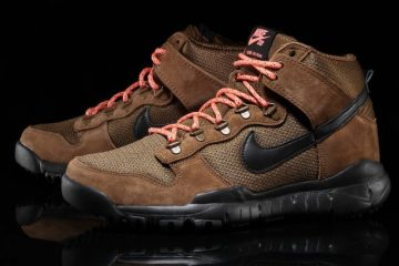 Nike SB Dunk High Boots in Military Brown