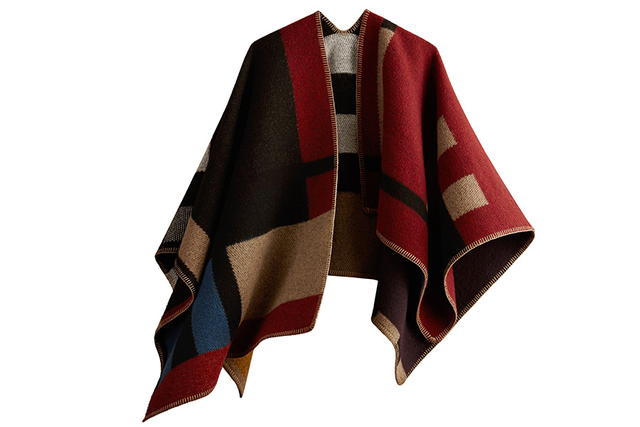 burberry-check-wool-cashmere-blanket-poncho